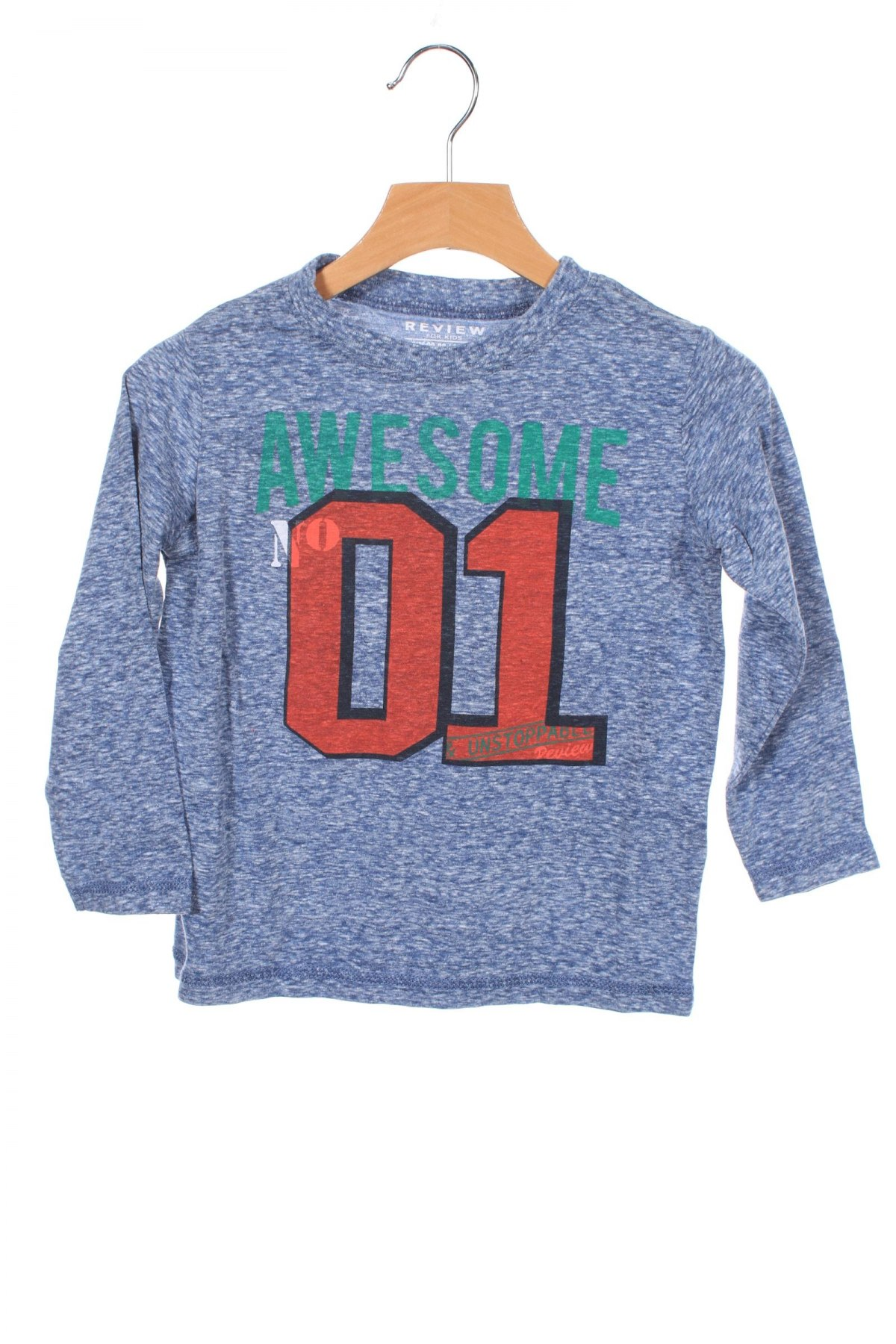 Детска блуза Review, Размер 18-24m/ 86-98 см, Цвят Син, 50% памук, 50% полиестер, Цена 7,20лв.