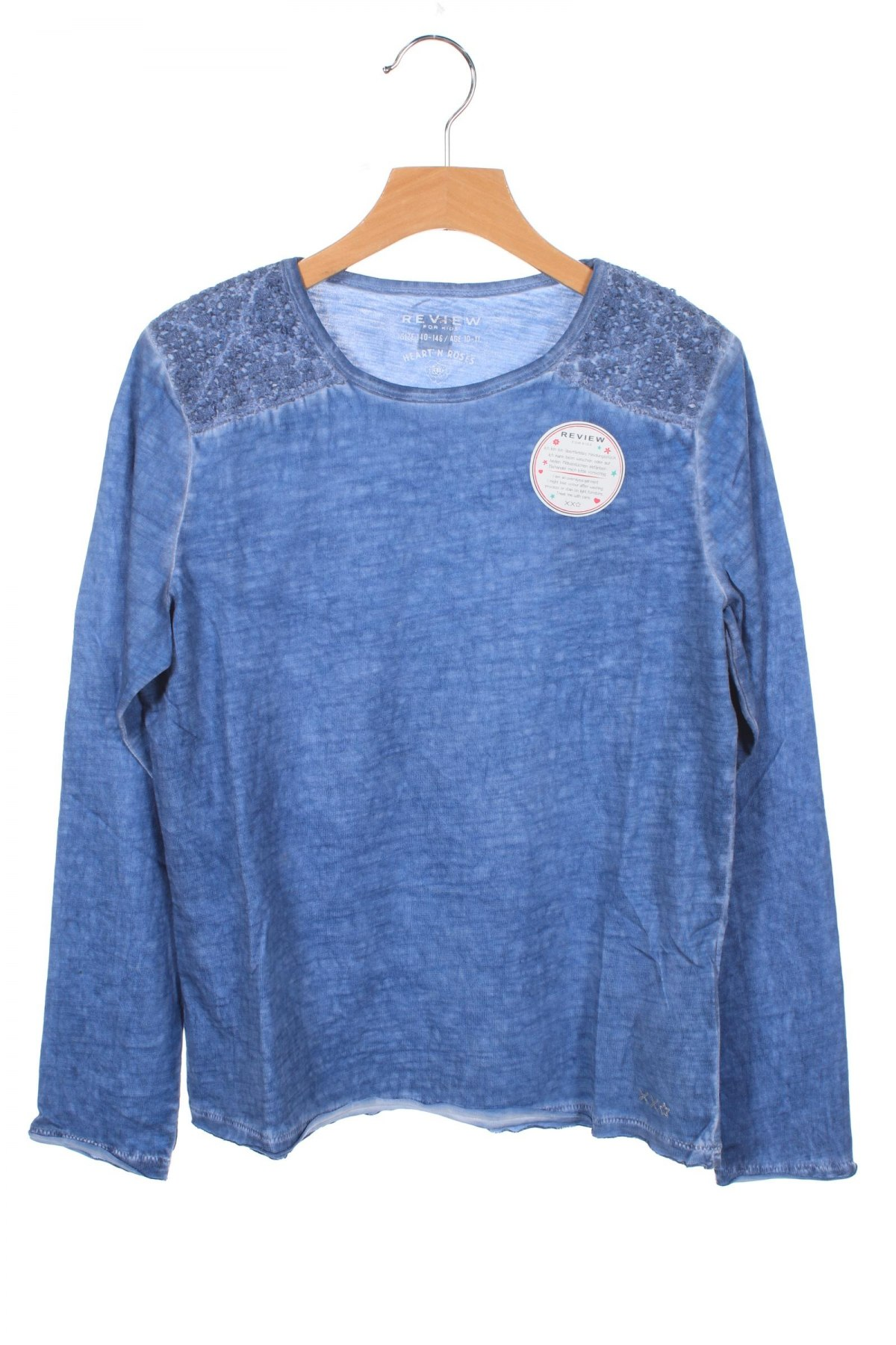 Детска блуза Review, Размер 9-10y/ 140-146 см, Цвят Син, 100% памук, Цена 28,50лв.