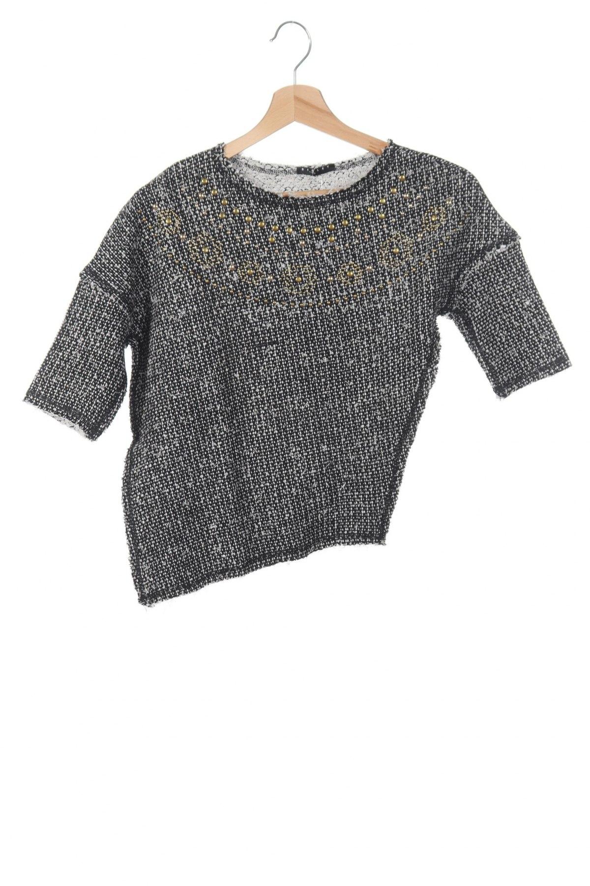 Детска блуза Sisley, Размер 7-8y/ 128-134 см, Цвят Черен, 81% памук, 19% полиестер, Цена 7,08лв.