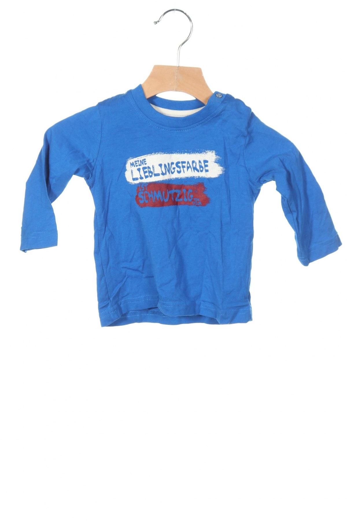 Детска блуза Tom Tailor, Размер 18-24m/ 86-98 см, Цвят Син, Памук, Цена 7,02лв.
