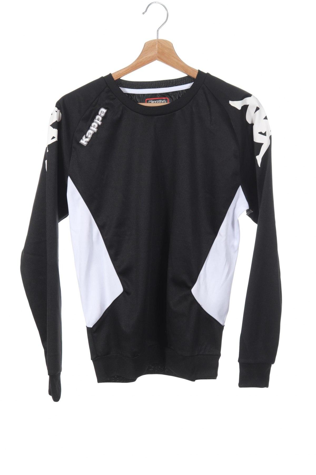 Детска спортна блуза Kappa, Размер 13-14y/ 164-168 см, Цвят Черен, Полиестер, Цена 33,00лв.
