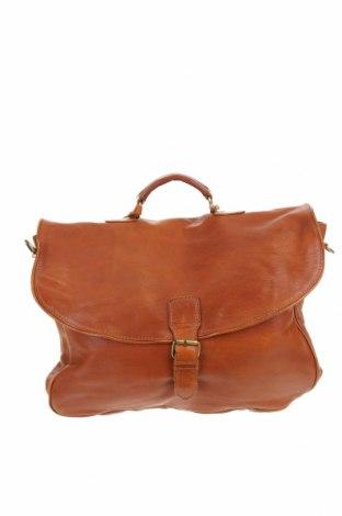 Τσάντα Cowboysbag, Χρώμα Καφέ, Γνήσιο δέρμα, Τιμή 149,32€