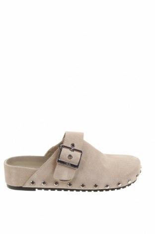 Чехли Zara, Размер 40, Цвят Сив, Естествен велур, Цена 81,75лв.