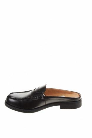 Чехли Zara, Размер 39, Цвят Черен, Еко кожа, Цена 42,72лв.