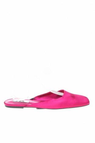 Чехли Zara, Размер 39, Цвят Розов, Текстил, Цена 12,98лв.