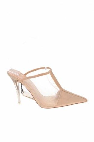 Papuci Zara, Mărime 36, Culoare Bej, Textil, Preț 102,14 Lei