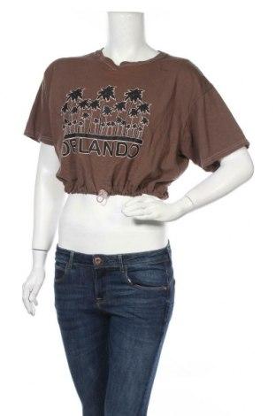 Дамска блуза Anvil, Размер L, Цвят Кафяв, Памук, Цена 14,82лв.