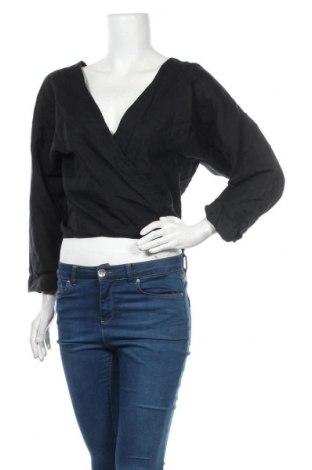 Дамска блуза Country Road, Размер L, Цвят Черен, Лен, Цена 18,90лв.