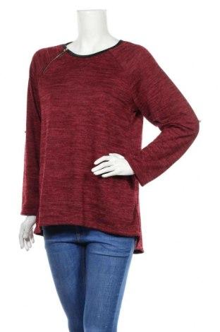 Дамска блуза Creme Fraiche, Размер M, Цвят Червен, 65% полиестер, 35% вискоза, Цена 16,07лв.