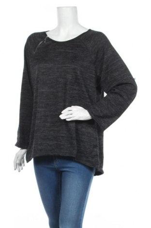 Дамска блуза Creme Fraiche, Размер XL, Цвят Сив, Цена 14,28лв.