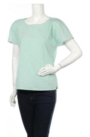 Дамска блуза Denim Hunter, Размер S, Цвят Зелен, 65% памук, 32% полиамид, 3% еластан, Цена 28,32лв.