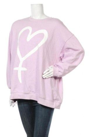 Γυναικεία μπλούζα H&M Divided, Μέγεθος L, Χρώμα Βιολετί, 60% βαμβάκι, 40% πολυεστέρας, Τιμή 11,72€