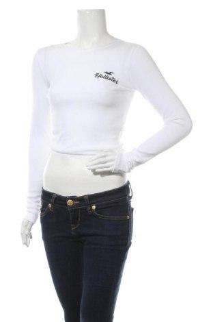 Bluză de femei Hollister, Mărime S, Culoare Alb, 95% bumbac, 5% elastan, Preț 74,37 Lei
