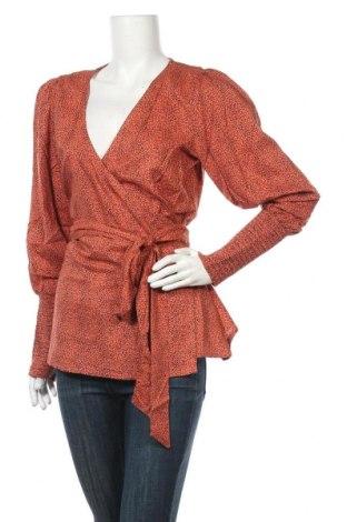 Дамска блуза Kaffe, Размер M, Цвят Оранжев, Вискоза, Цена 50,37лв.