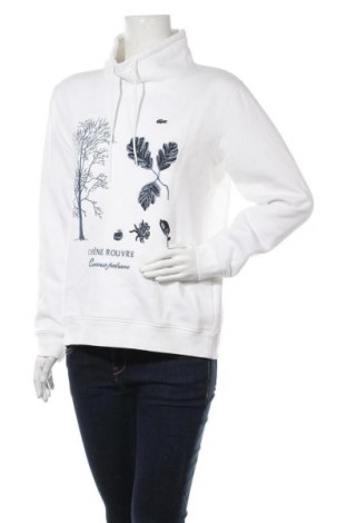 Дамска блуза Lacoste, Размер L, Цвят Бял, 65% памук, 35% полиестер, Цена 45,89лв.