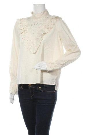 Дамска блуза Love Copenhagen, Размер S, Цвят Екрю, Памук, Цена 64,97лв.