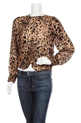 Дамска блуза Object, Размер M, Цвят Кафяв, 80% вискоза, 20% полиамид, Цена 30,72лв.