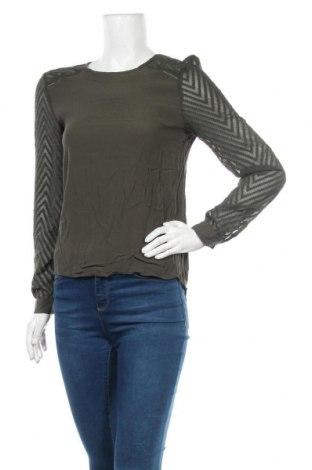 Дамска блуза Object, Размер S, Цвят Зелен, Цена 5,51лв.
