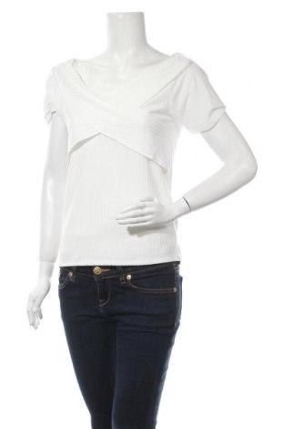 Дамска блуза Object, Размер XL, Цвят Бял, 59% полиестер, 33% вискоза, 8% еластан, Цена 21,07лв.