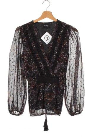 Дамска блуза Object, Размер XS, Цвят Черен, 90% полиестер, 10% метални нишки, Цена 23,52лв.