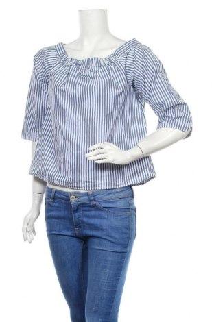 Дамска блуза Object, Размер S, Цвят Син, Памук, Цена 14,30лв.