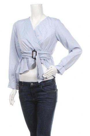 Дамска блуза SHEIN, Размер M, Цвят Син, Полиестер, Цена 16,96лв.
