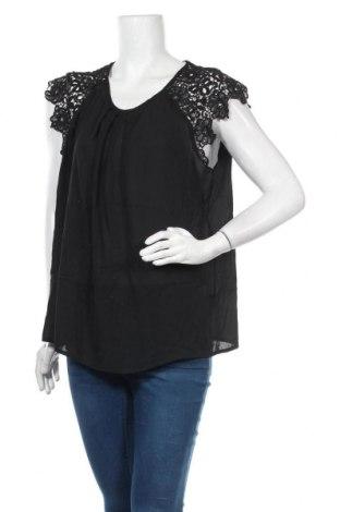 Дамска блуза SHEIN, Размер XL, Цвят Черен, 100% полиестер, Цена 10,40лв.