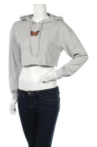 Дамска блуза SHEIN, Размер S, Цвят Сив, 65% полиестер, 30% памук, 5% еластан, Цена 14,18лв.