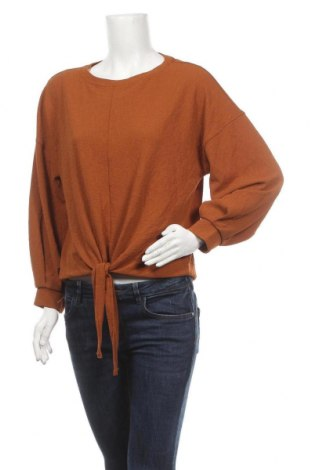Дамска блуза Sussan, Размер XS, Цвят Кафяв, 96% полиестер, 4% еластан, Цена 11,34лв.