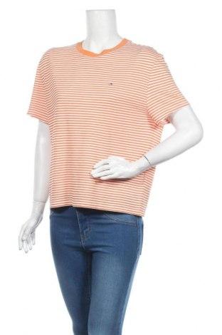 Дамска блуза Tommy Hilfiger, Размер L, Цвят Оранжев, 62% полиестер, 38% вискоза, Цена 50,37лв.