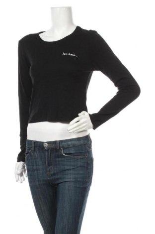 Дамска блуза Urban Outfitters, Размер L, Цвят Черен, Памук, Цена 42,00лв.