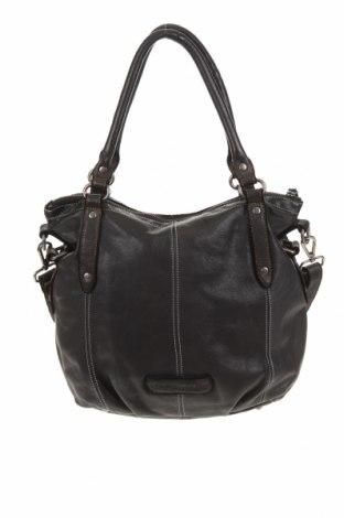 Γυναικεία τσάντα, Χρώμα Μαύρο, Γνήσιο δέρμα, Τιμή 34,55€