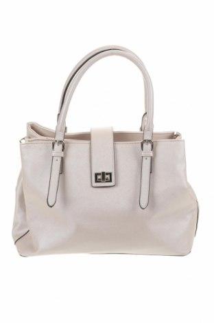 Γυναικεία τσάντα, Χρώμα Εκρού, Δερματίνη, Τιμή 14,81€
