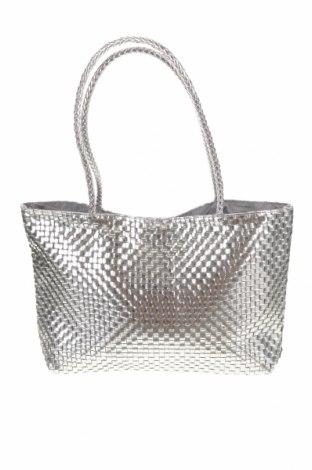 Γυναικεία τσάντα La Prairie, Χρώμα Ασημί, Δερματίνη, Τιμή 20,98€