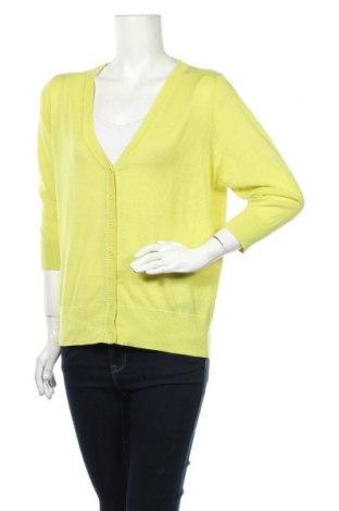 Дамска жилетка Brilliant, Размер XL, Цвят Жълт, Полиестер, памук, Цена 28,35лв.