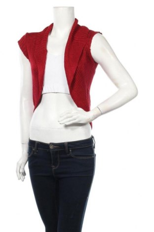 Дамска жилетка Miss Shop, Размер S, Цвят Червен, Акрил, полиамид, Цена 6,83лв.