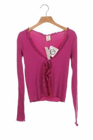 Cardigan de damă Urban Outfitters, Mărime XS, Culoare Roz, 92% bumbac, 8% elastan, Preț 170,23 Lei