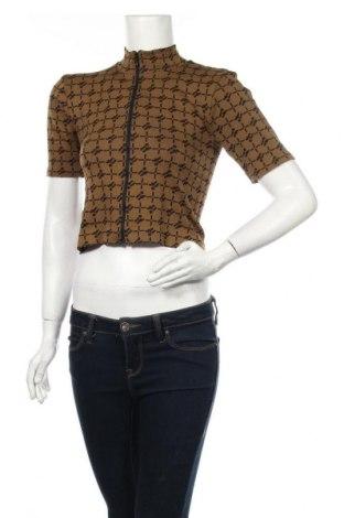Cardigan de damă Urban Outfitters, Mărime L, Culoare Bej, 56% poliamidă, 37% poliester, 7% elastan, Preț 170,23 Lei