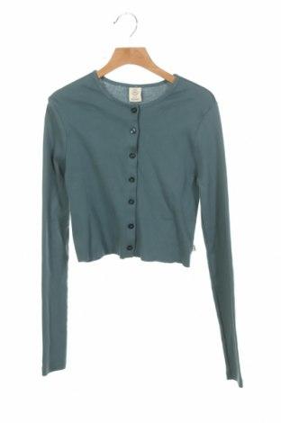 Cardigan de damă Urban Outfitters, Mărime XS, Culoare Albastru, Bumbac, Preț 133,22 Lei