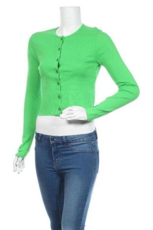 Cardigan de damă Urban Outfitters, Mărime L, Culoare Verde, Bumbac, Preț 133,22 Lei