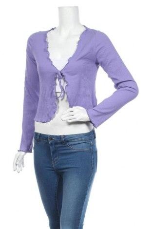 Cardigan de damă Urban Outfitters, Mărime L, Culoare Mov, 92% bumbac, 8% elastan, Preț 170,23 Lei