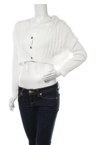 Cardigan de damă Urban Outfitters, Mărime M, Culoare Alb, 60% bumbac, 40% viscoză, Preț 202,31 Lei