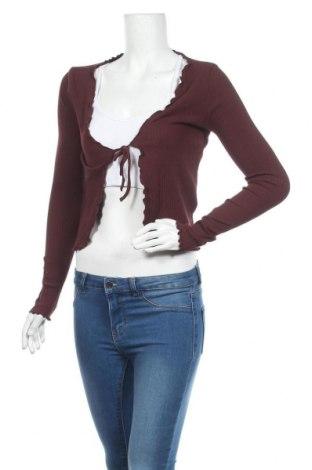 Cardigan de damă Urban Outfitters, Mărime L, Culoare Roșu, 92% bumbac, 8% elastan, Preț 170,23 Lei