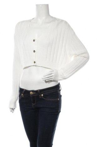Cardigan de damă Urban Outfitters, Mărime L, Culoare Alb, 60% bumbac, 40% viscoză, Preț 219,57 Lei