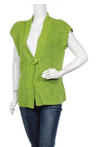 Дамска жилетка W. Lane, Размер M, Цвят Зелен, Акрил, памук, Цена 19,64лв.