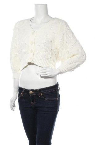 Дамска жилетка Zara, Размер S, Цвят Екрю, 62% памук, 38% акрил, Цена 25,97лв.