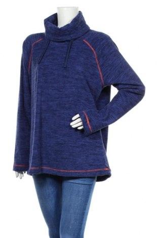 Дамска поларена блуза Active By Tchibo, Размер L, Цвят Син, Полиестер, Цена 19,64лв.
