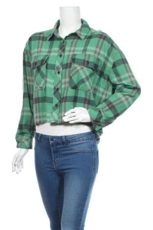 Cămașă de femei BDG, Mărime S, Culoare Verde, Bumbac, Preț 54,57 Lei