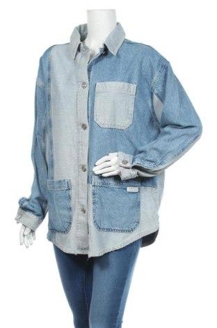 Дамско яке BDG, Размер L, Цвят Син, 63% памук, 37% лиосел, Цена 90,30лв.