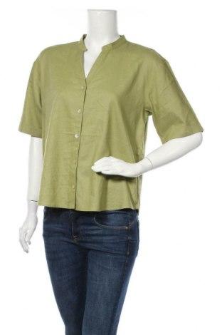 Γυναικείο πουκάμισο Cream, Μέγεθος M, Χρώμα Πράσινο, 55% λινό, 45% βισκόζη, Τιμή 31,61€
